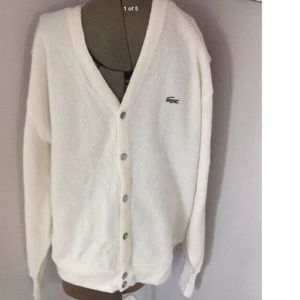 LACOSTE VINTAGE CARDIGAN MADE IN THE USA MENS XL